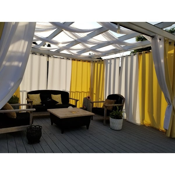 Inspiration about Reviews (887) Ati Home Indoor/outdoor Solid Cabana Grommet Pertaining To Indoor/outdoor Solid Cabana Grommet Top Curtain Panel Pairs (#26 of 48)