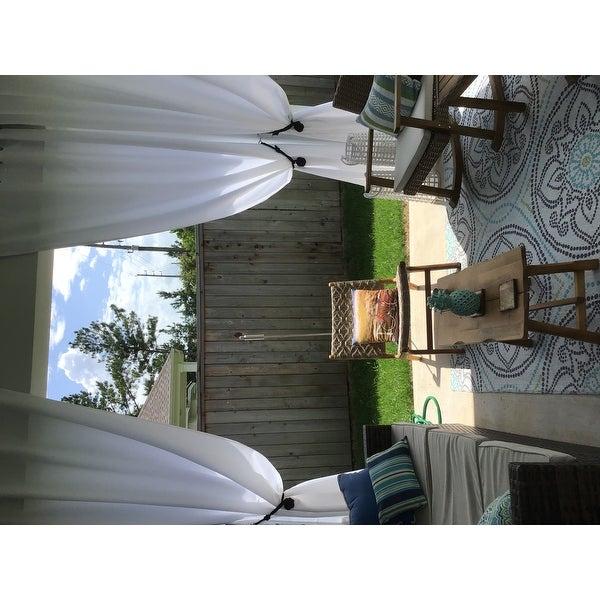 Inspiration about Reviews (887) Ati Home Indoor/outdoor Solid Cabana Grommet Regarding Indoor/outdoor Solid Cabana Grommet Top Curtain Panel Pairs (#30 of 48)