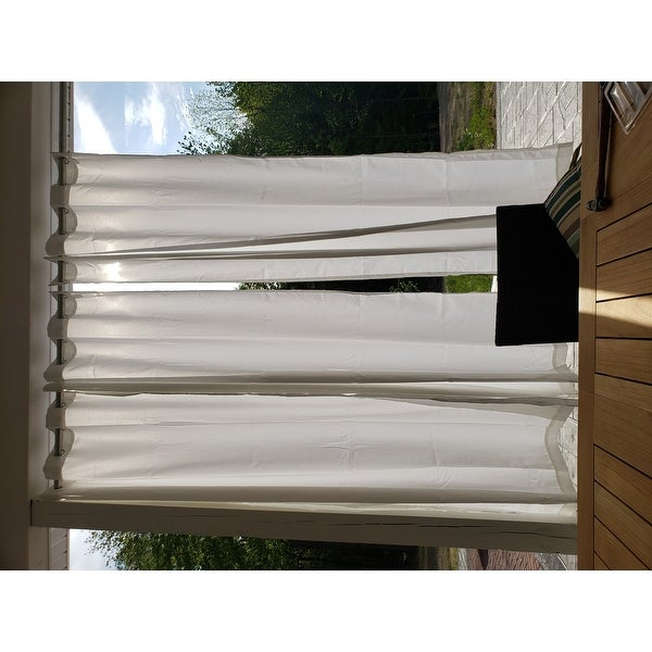 Inspiration about Reviews (887) Ati Home Indoor/outdoor Solid Cabana Grommet With Regard To Indoor/outdoor Solid Cabana Grommet Top Curtain Panel Pairs (#20 of 48)