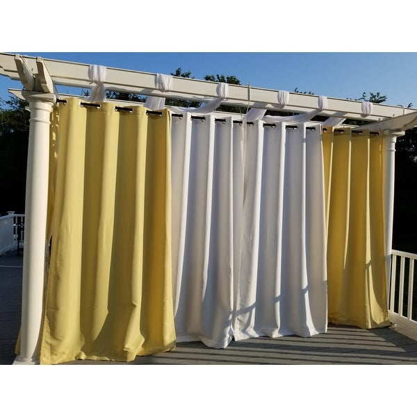 Reviews (887) Ati Home Indoor/outdoor Solid Cabana Grommet Within Indoor/outdoor Solid Cabana Grommet Top Curtain Panel Pairs (View 43 of 48)