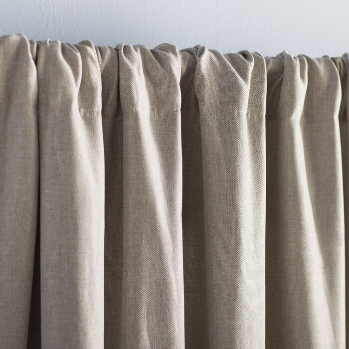 Reyna Solid Room Darkening Thermal Rod Pocket Single Curtain Panel Pertaining To Hayden Rod Pocket Blackout Panels (View 30 of 43)