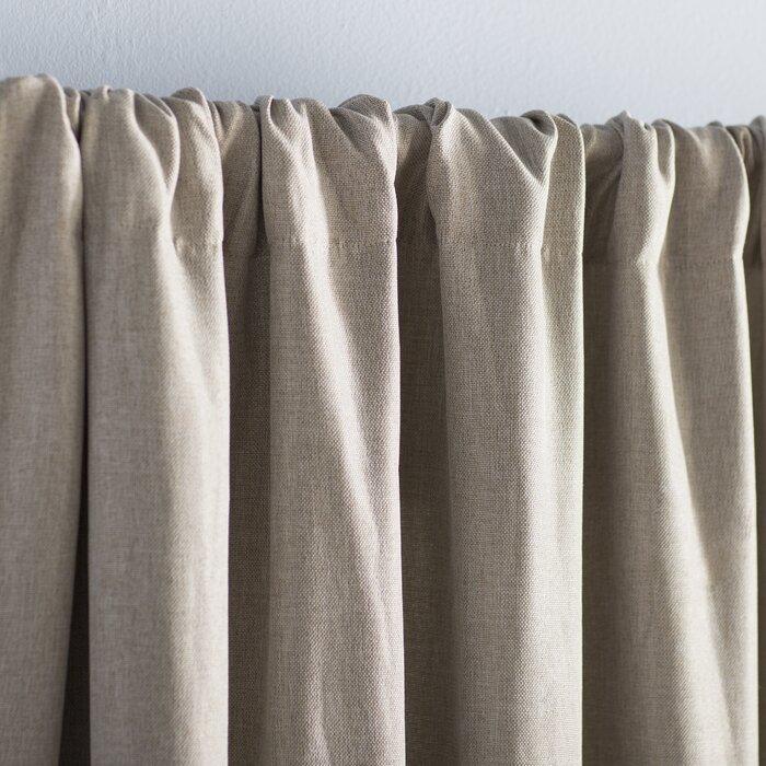 Reyna Solid Room Darkening Thermal Rod Pocket Single Curtain Panel Pertaining To Hayden Rod Pocket Blackout Panels (#30 of 43)