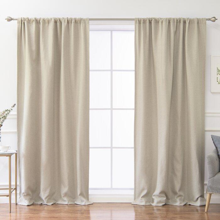 Reyna Solid Room Darkening Thermal Rod Pocket Single Curtain Panel Pertaining To Hayden Rod Pocket Blackout Panels (#29 of 43)