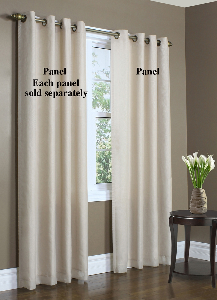 Rhapsody Lined Thermavoile Grommet Top Panel Within Lined Grommet Curtain Panels (#22 of 31)