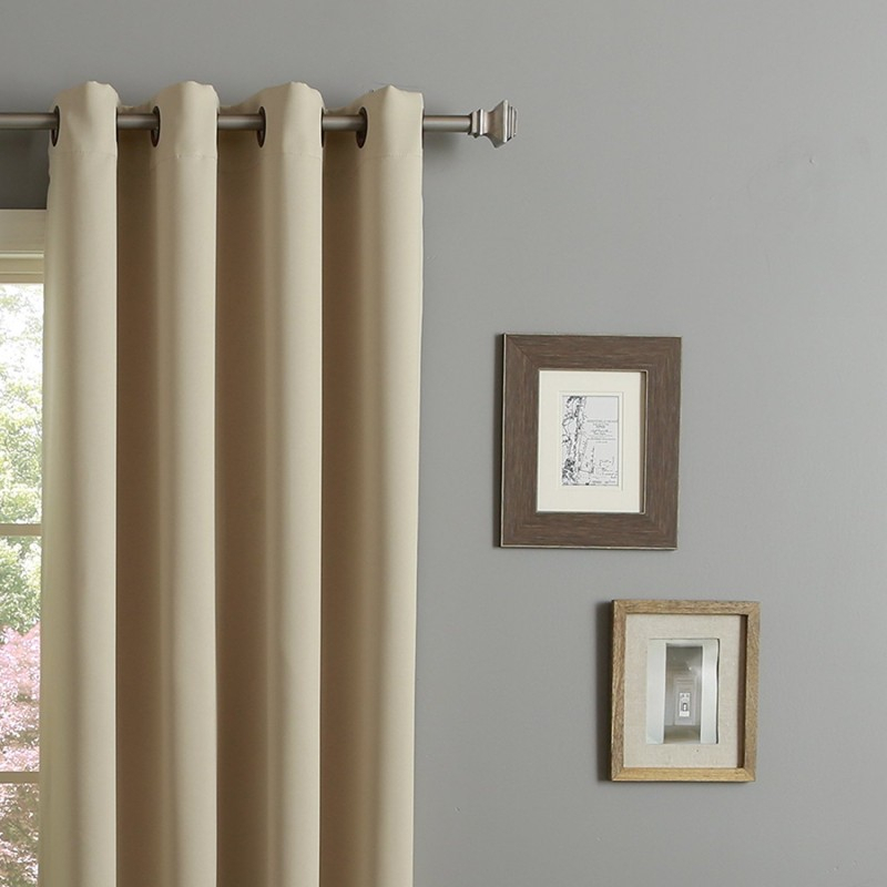 Rhf Blackout Thermal Insulated Curtain – Antique Bronze For Insulated Cotton Curtain Panel Pairs (#29 of 50)