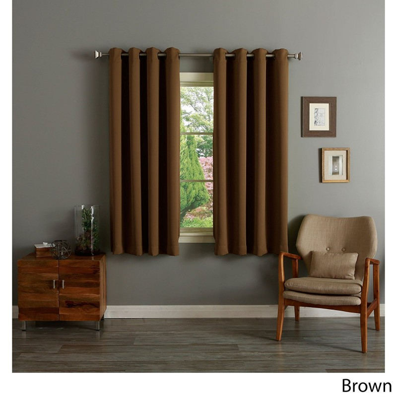 Rhf Blackout Thermal Insulated Curtain – Antique Bronze Throughout Insulated Cotton Curtain Panel Pairs (#30 of 50)