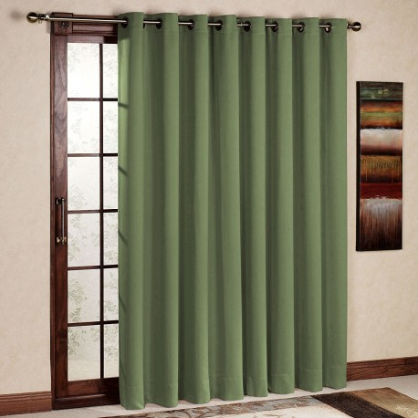 Rhf Wide Thermal Blackout Patio Door Curtain Panel, Sliding Door Curtains  Antique Bronze Grommet Top 100W84L Inches Olive – Rose Home Fashion Throughout Grommet Blackout Patio Door Window Curtain Panels (View 33 of 50)
