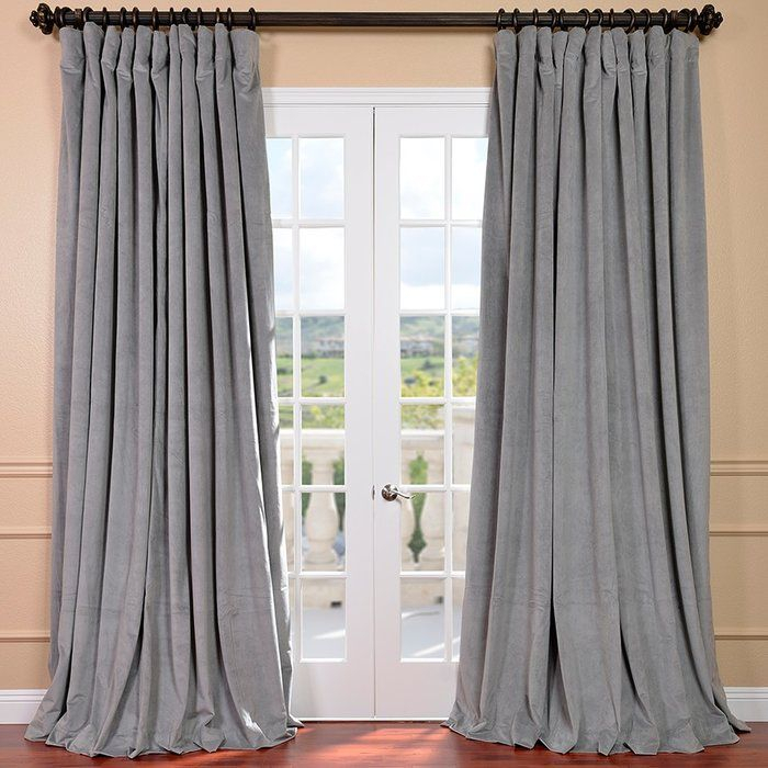 Rhinehart Solid Max Blackout Thermal Tab Top Single Curtain With Evelina Faux Dupioni Silk Extreme Blackout Back Tab Curtain Panels (View 29 of 33)