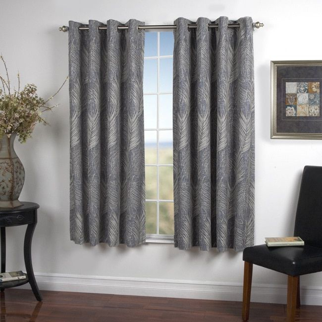 Inspiration about Ricardo Brookfield Lined Grommet Textured Print Curtain Inside Tacoma Double Blackout Grommet Curtain Panels (#10 of 48)