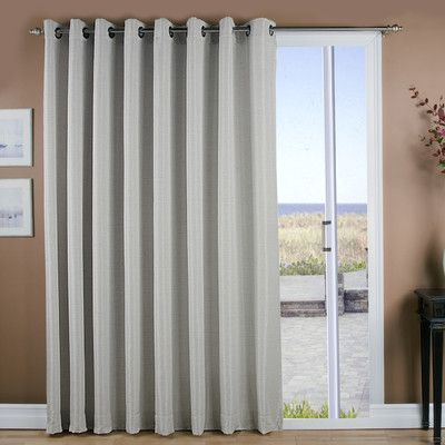 Inspiration about Ricardo Trading Grasscloth Grommet Patio Thermal Blackout Within Patio Grommet Top Single Curtain Panels (#7 of 38)
