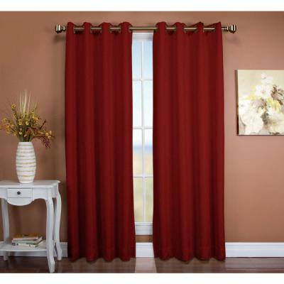 Inspiration about Ricardo Trading Tacoma 50 In. W X 45 In. L Polyester Double With Tacoma Double Blackout Grommet Curtain Panels (#3 of 48)