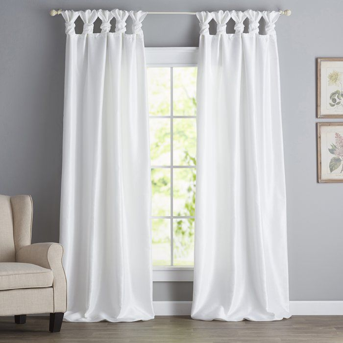 Rivau Solid Regular Tab Top Curtain Panels | Home Decor In With Regard To Elowen White Twist Tab Voile Sheer Curtain Panel Pairs (View 28 of 36)