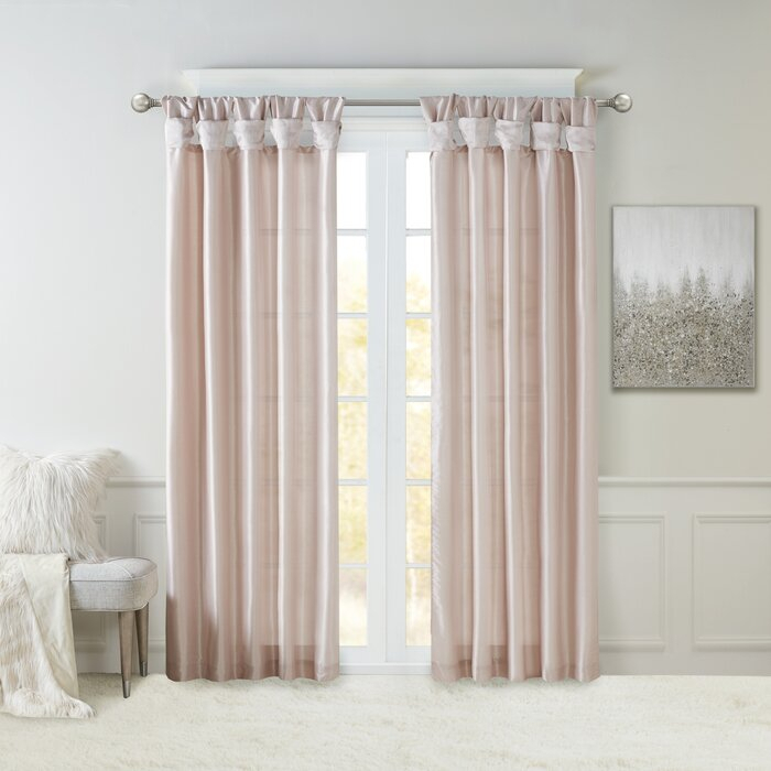 Rivau Solid Tab Top Single Curtain Panel With Regard To Tassels Applique Sheer Rod Pocket Top Curtain Panel Pairs (View 28 of 45)