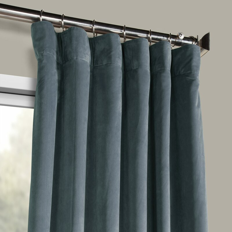 Riverton Solid Heritage Plush Velvet Rod Pocket Single Curtain Panel Regarding Heritage Plush Velvet Curtains (View 41 of 50)