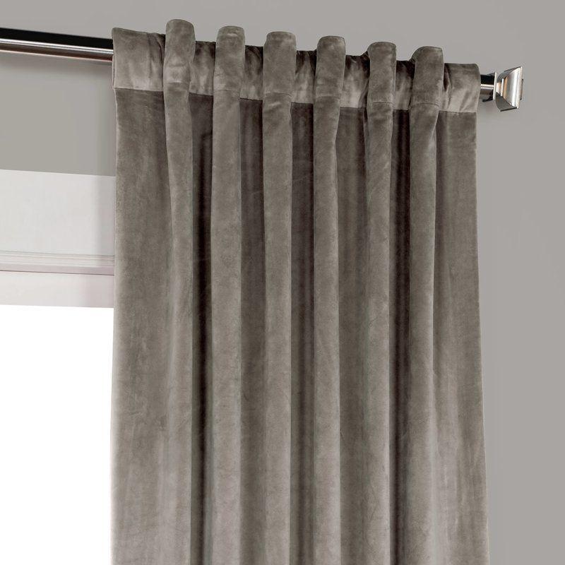 Inspiration about Riverton Solid Heritage Plush Velvet Rod Pocket Single Pertaining To Heritage Plush Velvet Single Curtain Panels (#5 of 50)