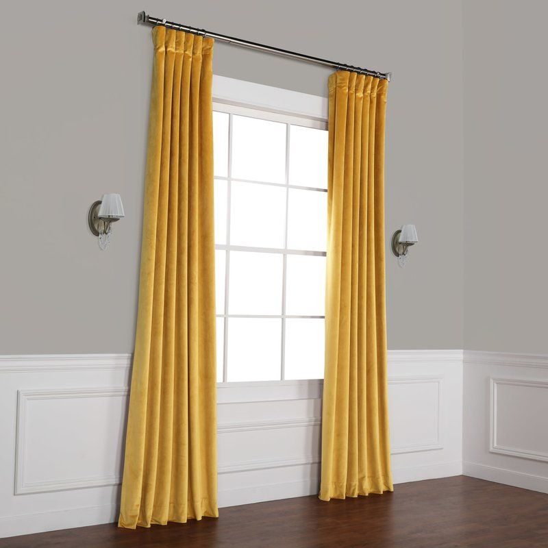 Inspiration about Riverton Solid Heritage Plush Velvet Rod Pocket Single Throughout Heritage Plush Velvet Single Curtain Panels (#11 of 50)
