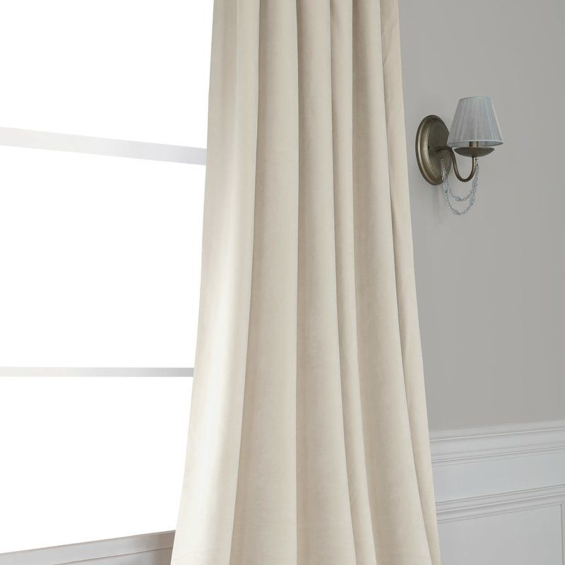 Inspiration about Riverton Solid Heritage Plush Velvet Rod Pocket Single With Regard To Heritage Plush Velvet Single Curtain Panels (#4 of 50)