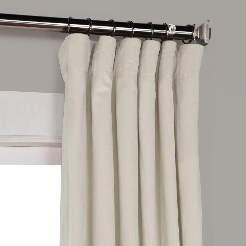 Inspiration about Riverton Solid Heritage Plush Velvet Rod Pocket Single With Regard To Heritage Plush Velvet Single Curtain Panels (#2 of 50)