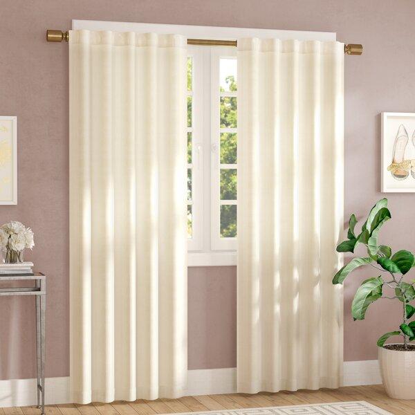 Inspiration about Rod Pocket Back Tab Curtains | Wayfair Regarding Velvet Solid Room Darkening Window Curtain Panel Sets (#7 of 47)