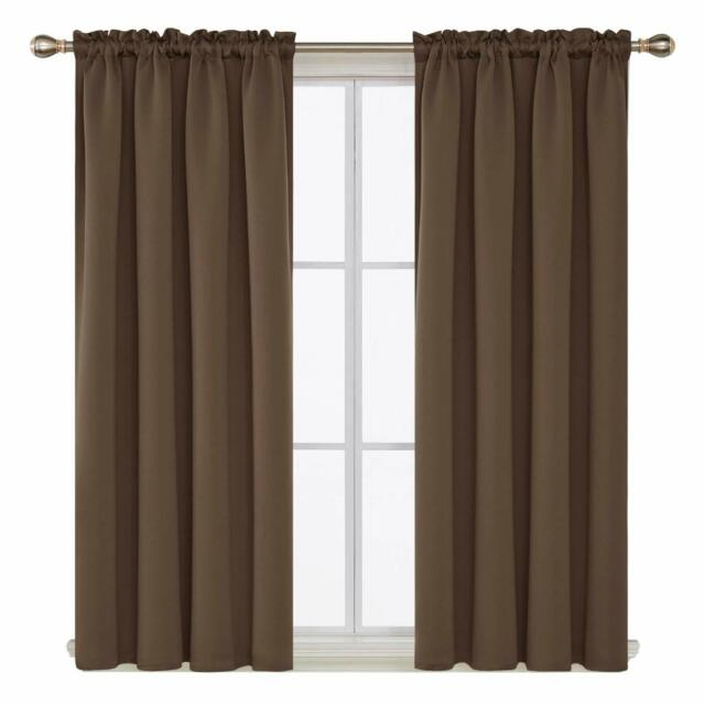 Rod Pocket Blackout Curtain Thermal Insulated Room Darkening Living Room, 1  Pair With Thermal Rod Pocket Blackout Curtain Panel Pairs (#37 of 50)