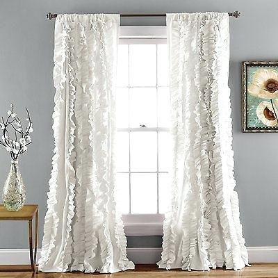 Inspiration about Rod Pocket Window Panel Pinehurst Curtain Jacquard Rust Regarding Willow Rod Pocket Window Curtain Panels (#34 of 46)