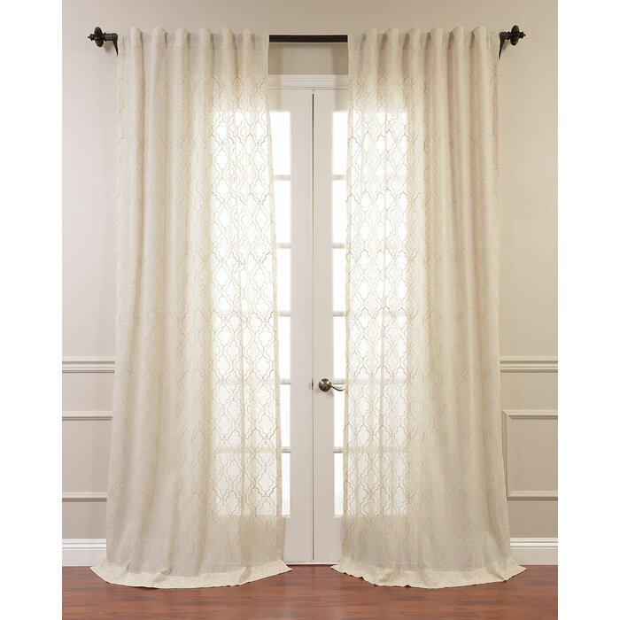 Popular Photo of Tab Top Sheer Single Curtain Panels