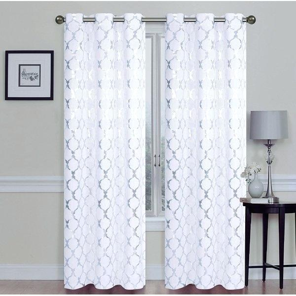 Room Darkening Blackout Curtains Drapery Rods Drapes Shop 2 Within Total Blackout Metallic Print Grommet Top Curtain Panels (#38 of 50)