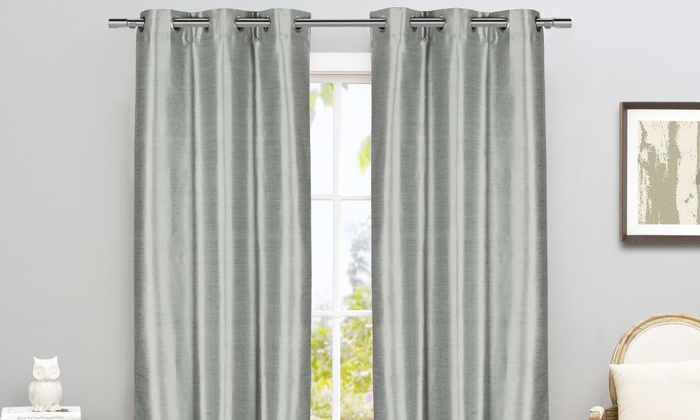 Inspiration about Room Darkening Curtain Pair | Groupon Goods Intended For Thermal Insulated Blackout Curtain Pairs (#8 of 50)