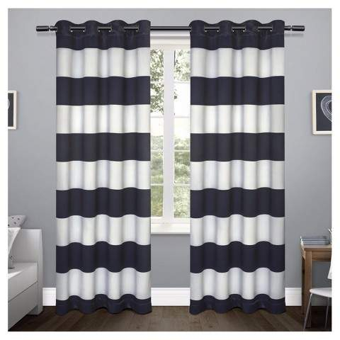 Inspiration about Room Darkening Curtains – Shopstyle Throughout Valencia Cabana Stripe Indoor/outdoor Curtain Panels (#27 of 37)