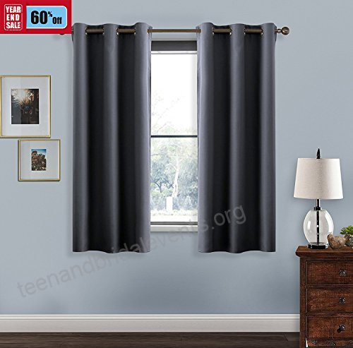 Room Darkening Curtains Window Panel Drapes – Window Within Superior Solid Insulated Thermal Blackout Grommet Curtain Panel Pairs (#33 of 45)