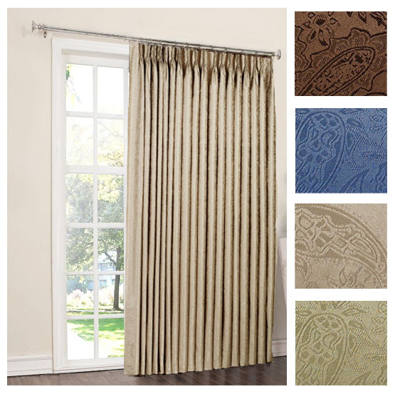 Room Darkening Patio Curtains – Plozawxy Intended For Nantahala Rod Pocket Room Darkening Patio Door Single Curtain Panels (#36 of 50)