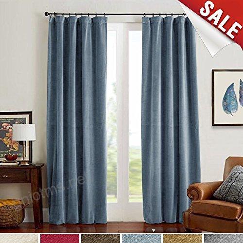 Inspiration about Room Darkening Velvet Curtains, Drapes For Bedroom 84 Inch For Velvet Solid Room Darkening Window Curtain Panel Sets (#28 of 47)