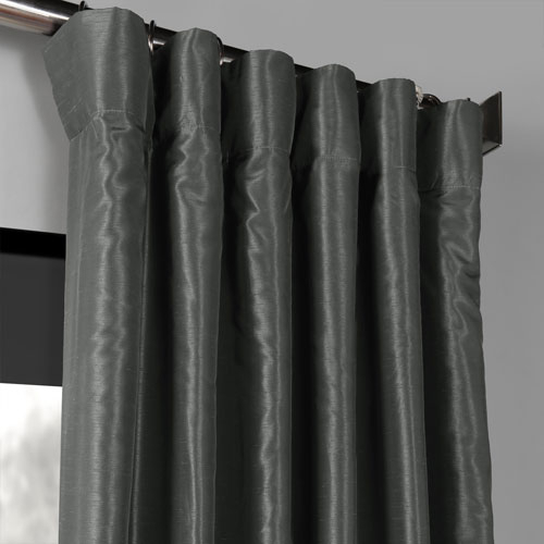 Inspiration about Rose Street Arrowhead Grey 96 X 50 Inch Blackout Vintage Textured Faux  Dupioni Silk Curtain Single Panel Intended For Silver Vintage Faux Textured Silk Curtain Panels (#30 of 50)