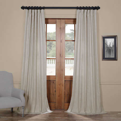 Inspiration about Rose Street Fog Grey Heavy Faux Linen 108 X 50 In. Curtain Single Panel In Heavy Faux Linen Single Curtain Panels (#3 of 32)
