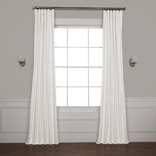 Inspiration about Rose Street Whisper White 108 X 50 Inch Solid Cotton Blackout Curtain  Single Panel With Solid Cotton Curtain Panels (#13 of 47)