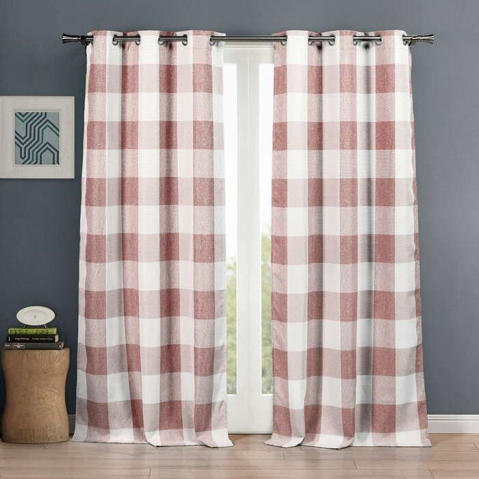 Rosenblum Plaid Blackout Grommet Curtain Panels With Blackout Grommet Curtain Panels (View 3 of 40)