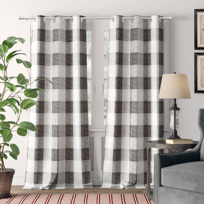 Rosenblum Plaid Blackout Grommet Curtain Panels Within Blackout Grommet Curtain Panels (View 30 of 40)