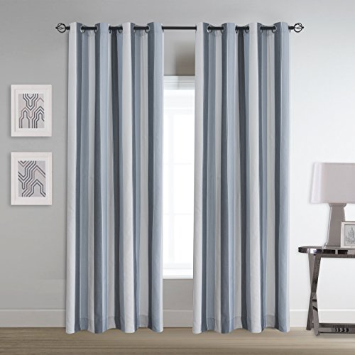 Inspiration about Roslynwood Country Classic Vertical Stripe Grommet Window Within Insulated Cotton Curtain Panel Pairs (#44 of 50)