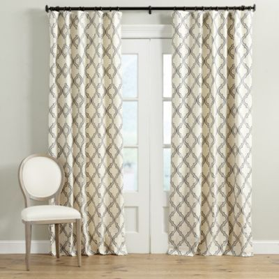 Rosselli Embroidered Drapery Panel | Nest | Drapery Panels Throughout Primebeau Geometric Pattern Blackout Curtain Pairs (#34 of 38)