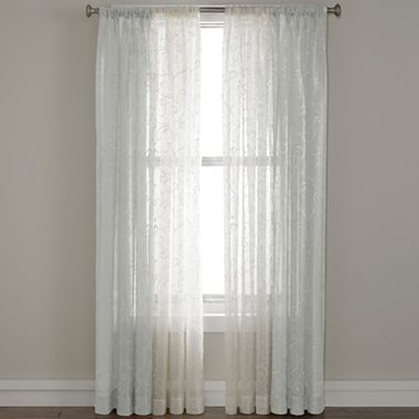 Royal Velvet® Bianca Embroidered Rod Pocket Sheer Panel Intended For Kida Embroidered Sheer Curtain Panels (#32 of 50)