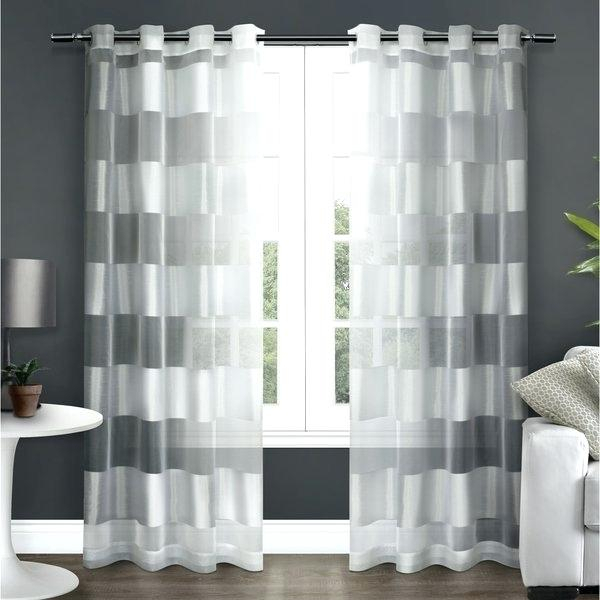 Royal Velvet Crushed Voile Grommet Top Sheer Curtain Panel Within Delano Indoor/outdoor Grommet Top Curtain Panel Pairs (View 30 of 45)