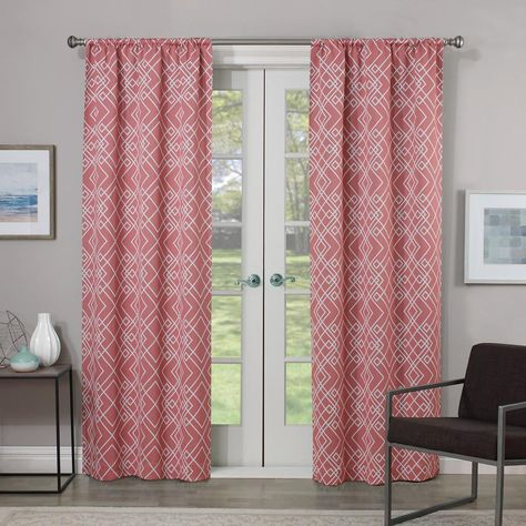 Inspiration about Rt Designers Collection Nikki Faux Silk Rod Pocket Curtain For The Curated Nomad Duane Jacquard Grommet Top Curtain Panel Pairs (#41 of 50)