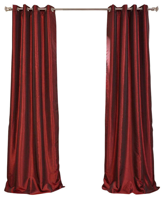 """Inspiration about Ruby Grommet Blackout Vintage Textured Fauxsilk Dupioni Single Panel,  50""""x84"""" Pertaining To True Blackout Vintage Textured Faux Silk Curtain Panels (#29 of 50)"""