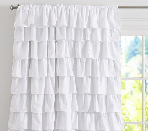 Ruffle Blackout Panel – Pottery Barn Kids Throughout Keyes Blackout Single Curtain Panels (View 1 of 50)