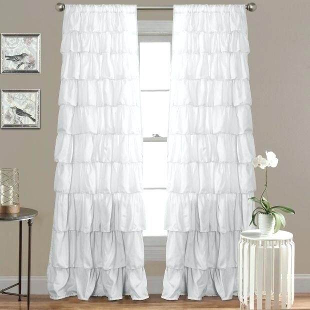 Inspiration about Ruffle Curtain Panels – Jamarmclees.co With Sheer Voile Waterfall Ruffled Tier Single Curtain Panels (#27 of 50)