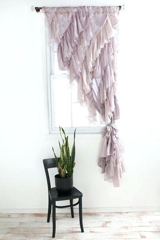 Inspiration about Ruffle Curtain Panels – Polarbit.co Within Sheer Voile Waterfall Ruffled Tier Single Curtain Panels (#24 of 50)