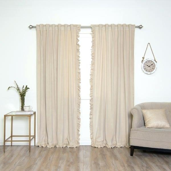 Inspiration about Ruffle Curtain Panels – Zerodeductible.co Intended For Ruffle Diamond Curtain Panel Pairs (#40 of 50)