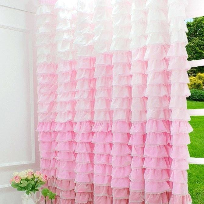 Inspiration about Ruffle Curtain White Curtains 108 – Seraphicco Intended For Sheer Voile Waterfall Ruffled Tier Single Curtain Panels (#37 of 50)