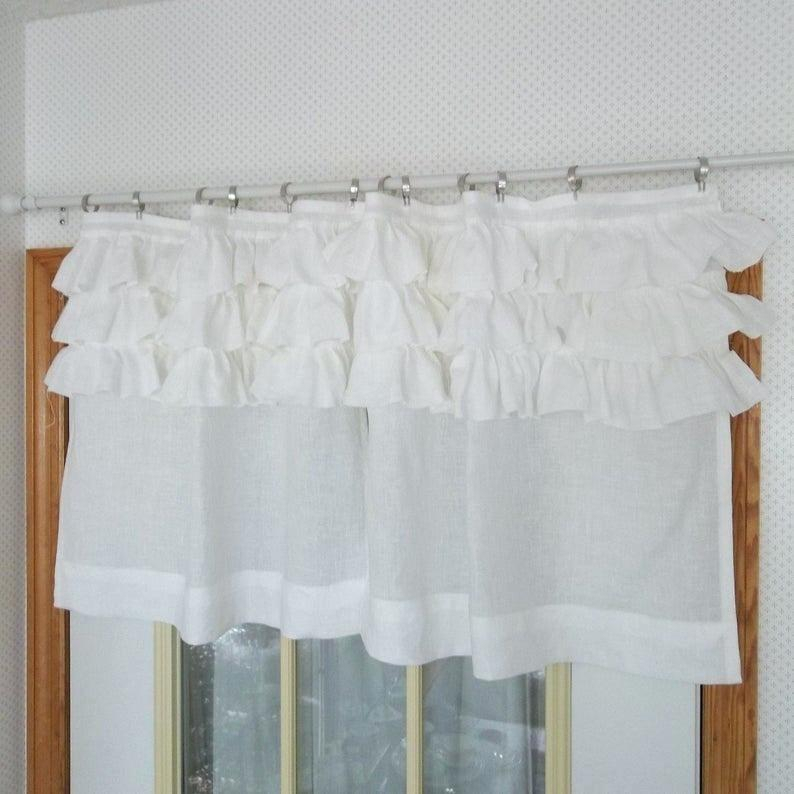 Inspiration about Ruffle Top Curtains – Agendamacher.co Intended For Lydia Ruffle Window Curtain Panel Pairs (#18 of 43)