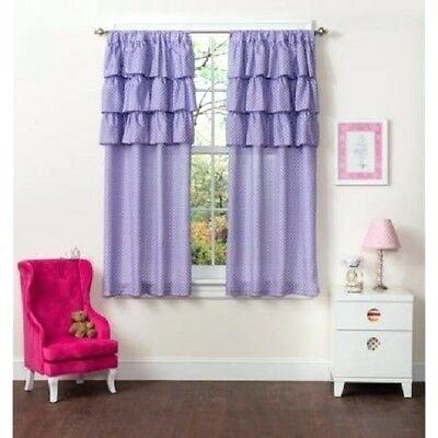 Inspiration about Ruffle Window Panel Pair Of White Diamond Panels Curtains Inside Ruffle Diamond Curtain Panel Pairs (#20 of 50)